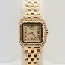 Cartier Panthere 18k Yellow Gold All Factory Diamonds