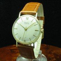 Dugena 14kt 585 Gold Gelbgold Handaufzug Herrenuhr / Kaliber 985