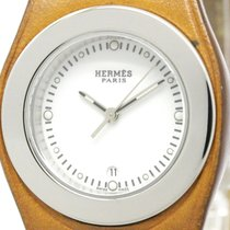 Hermès Harneis Steel Leather Quartz Ladies Watch Ha3.210...