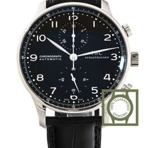 IWC Portuguese Chronograph Automatic Black Dial NEW