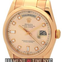 Rolex Day-Date 18k Rose Gold Pink Diamond Dial