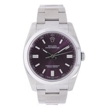 Rolex Oyster Perpetual No-Date 36mm Red Grape Dial
