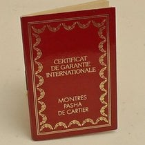 Cartier International Guarantee Certificate Booklet Pasha