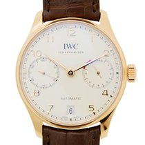 萬國 (IWC) Portuguese 18k Rose Gold White Automatic IW500701