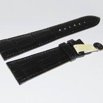 Chopard CROCO Lederband, schwarz 25/18 mm