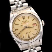 Rolex datejust Ovettone ref 6304, scritta rossa big logo bracelet