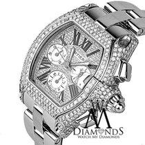 カルティエ (Cartier) Diamond Cartier Roadster Xl W62020x6 Chronogra...