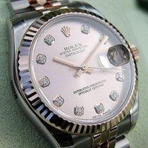 ロレックス (Rolex) Midsize Ss/18k Rose Gold Pink Diamond Datejust...