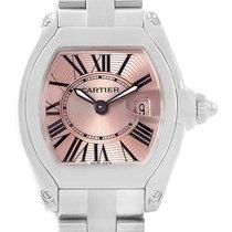 Cartier Roadster Ladies Pink Roman Dial Ladies Watch W62017v3