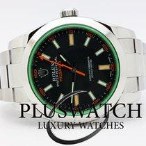 Rolex Milgauss 2013 116400 GREEN GLASS 40mm  3408