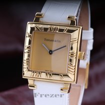 Tiffany & Co Atlas Ladie`s Square Gold