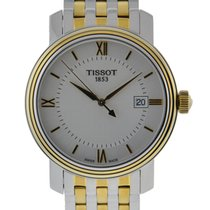 Tissot Bridgeport Quartz Stainless Steel And Yellow Gold...