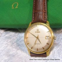 Omega Vintage Geneve Date Crosshairs 18ct Gold Boxed Original...