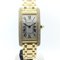 Καρτιέρ (Cartier) Tank Americaine 18k Gold w/ Diamonds