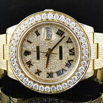 Rolex Custom Mens New Yellow Gold Rolex Date Just II 2 With...