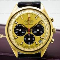 Zenith G582 Vintage El Primero 18K Yellow Gold Panda Dial (25730)