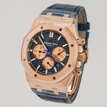 Audemars Piguet Royal Oak Chronograph Blue Dial & Leather...