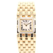 Cartier Ruban 2421 gold with diamonds with box