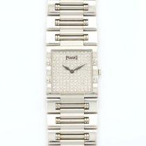 Piaget White Gold Dancer Pave Diamond Watch