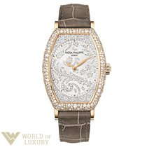 Patek Philippe Gongolo Rose Gold Diamond Paved Ladies Watch