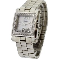 Chopard 278505-2001 Happy Sport Square in Steel with Diamond...