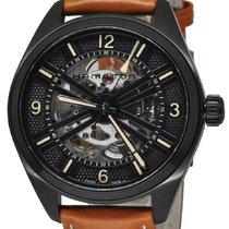 Hamilton KHAKI SKELETON AUTO Black-Brown Leather Strap H-72585535