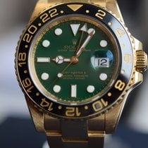 Rolex GMT-Master II GREEN DIAL Yellow Gold MINT IN STOCK