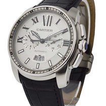 Cartier W7100046 Calibre de Cartier Chronograph - Steel on...