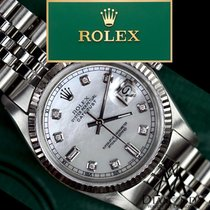 Rolex Mens Rolex 36mm Datejust White Mop Mother Of Pearl 8+2...