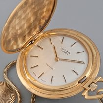Vintage Rotary Full Hunter gold plated Manual Pocketwatch and...