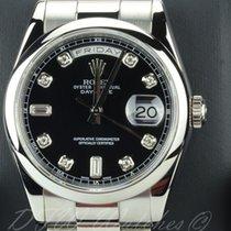 Rolex 18k White Gold & Diamonds Day-Date 36 President...