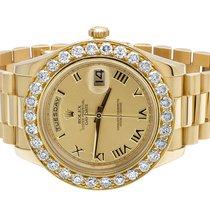 Rolex 18K Mens Yellow Gold Rolex Day-Date II 41MM Presidential...