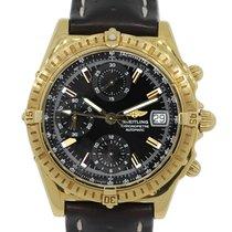 Breitling K13352 Windrider Chronograph 18k  Gold Watch