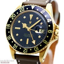 Rolex Vintage GMT-Master Ref-1675 18 Yellow Gold Nipple Dial...