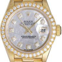 Rolex Ladies Rolex President 18k Yellow Gold Diamond Watch 79138