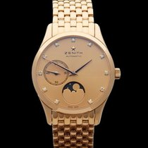 Zenith Heritage Ultra Thin Moonphase 18k Rose Gold Ladies...