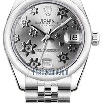 Rolex Datejust 31mm Stainless Steel 178240 Rhodium Floral Jubilee