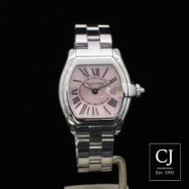 Cartier Roadster Stainless Steel Ladies Pink Dial