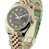 Rolex Unworn 116231 DateJust in 2-Tone with Rose gold Fluted...