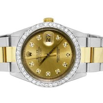 Rolex Datejust 2 Tone 36MM 18K Stainless Steel Champagne...