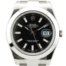 Rolex DateJust II 2 Stainless Steel Black Dial-116300