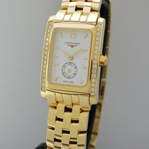 Longines Dolce Vita Diamonds -Gold-Gold 18k/750 -Box+Papiere...