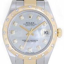 Rolex Datejust Midsize 31mm Steel & Gold 24 Diamond Dome...