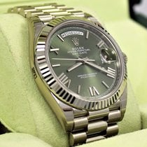 Rolex President 40mm Day-date 228239 18k White Gold Green...