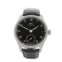IWC Portuguese Hand Wound Eight Days Stainless Steel Gents...