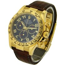 Rolex Used 116518 Yellow Gold DAYTONA on Strap 116518 - Blue...