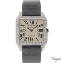 Cartier Santos Dumont White Gold  Diamonds