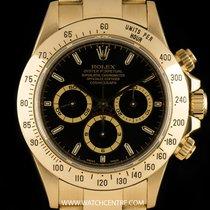Rolex 18k Yellow Gold Black Dial Zenith Cosmograph Daytona 16528
