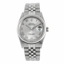 Rolex Datejust Roman Dial Engine Turned Bezel 16220 (Pre-Owned)