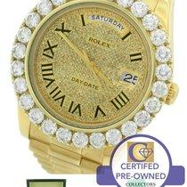 Rolex Day-Date II President 41mm 218238 18K Yellow Gold Diamond